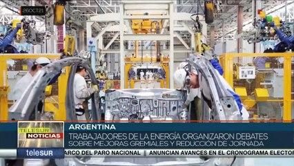 Argentina: Trabajadores energéticos debaten sobre mejoras gremiales y reducción de jornada laboral