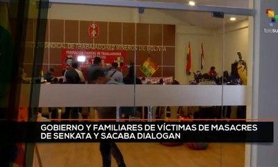 teleSUR Noticias 17:30 26-10: Gobierno de Bolivia y familias de víctimas de masacre inician diálogos