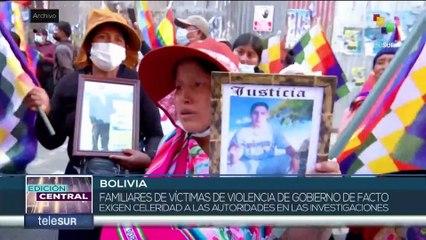 Gobierno y familiares de víctimas en Bolivia inician diálogos donde solicitan justicia y reparación