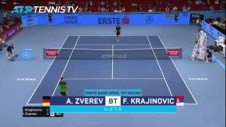 Zverev beats Krajinovic after second set wobble in Vienna