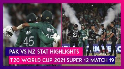 PAK vs NZ Stat Highlights T20 World Cup 2021: Pakistan Register Consecutive Wins