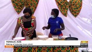Yensua Ade: Making of Adunley (corn stick) - Afisem on Adom TV (27-10-21)