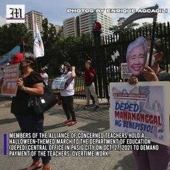 LOOK: Militants spook DepEd over teachers' unpaid overtime work