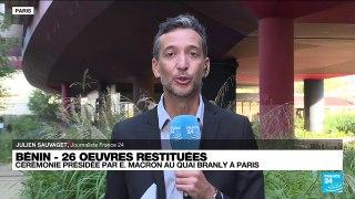 Macron attendu au quai Branly pour présider la cérémonie de restitution des œuvres au Bénin