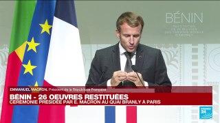 REPLAY- Emmanuel Macron s'exprime sur la restitution des œuvres d'art au Bénin