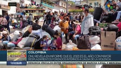 teleSUR Noticias 17:30 27-10: ONU revela cifras altas de desplazamientos de personas en Colombia