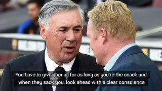Koeman's been giving his all - Ancelotti on sacked Barca coach