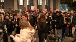 Hundreds march through Manchester over drink spikings in clu