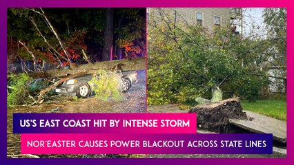 US's East Coast Hit By Intense Storm, Nor'easter Causes Power Blackout Across State Lines