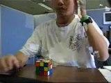 Rubik's cube les yeux fermés