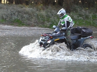 Can-am Outlander in water