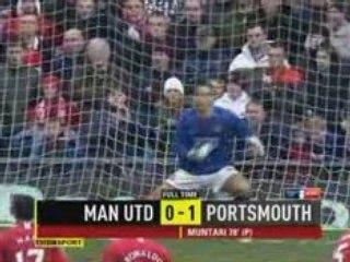 Man Utd vs Portsmouth 0:1
