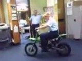 police en dirt bike