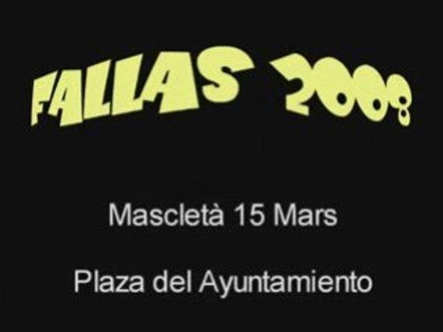 Fallas 2008 mascleta 15 mars