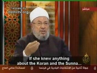Wafa   sultan vs cheikh el  karadaoui !!