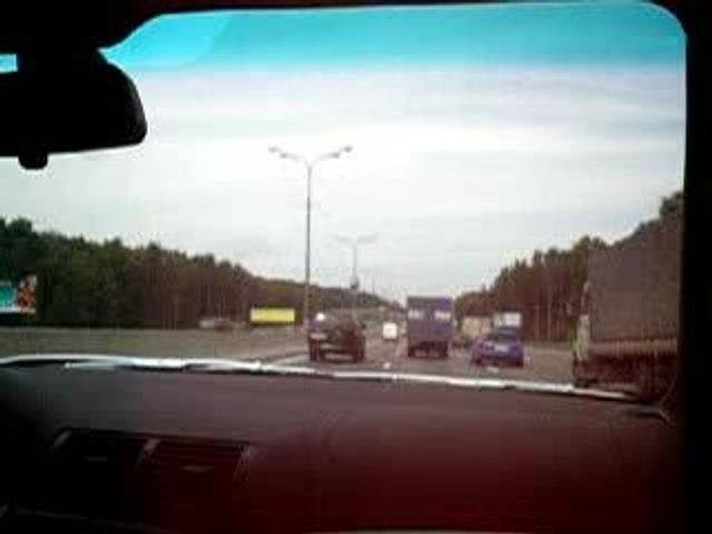 Zigzag sur autoroute