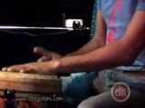 percussion drums solo Djembe and stompbox foot pedal drums