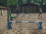 Mon petit cheval SHEITAN et moi en cour de cso