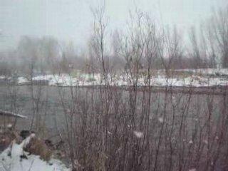 Roaring Fork River in Basalt on a snowy winter day 2008