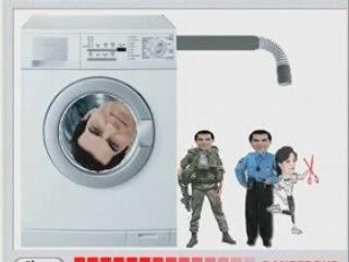 Ben Ali in a washing machine