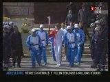 Flamme olympique Paris Eteinte 2 fois bagarres
