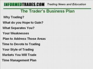 20 Components of a Successful Trading Plan
