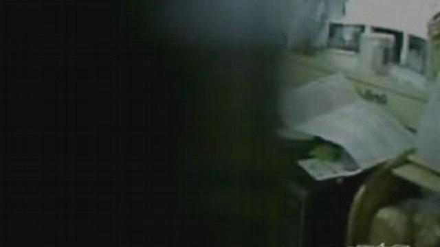 Mask In Cabinet Terrifies Girl