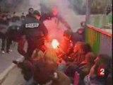 Flamme olympique   Répression des CRS