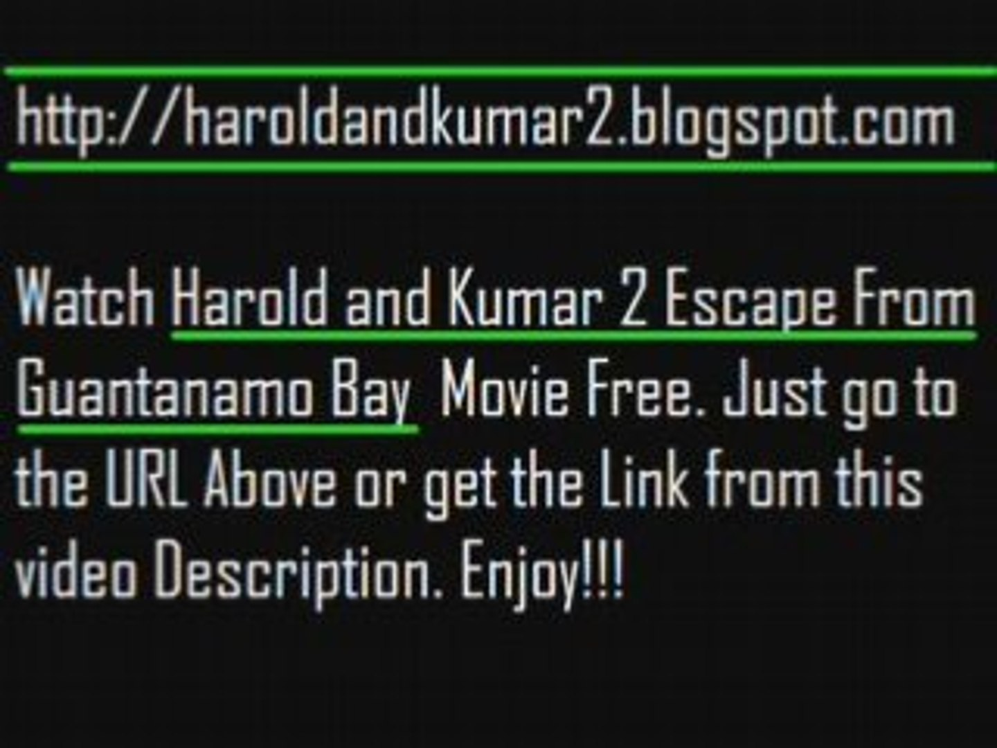 Harold And Kumar Escape From Guantanamo Bay Full Movie Free watch harold and kumar 2 escape from guantanamo bay 2008 mov