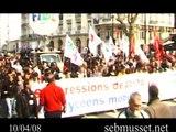 RETOUR SUR LA MANIFESTATION DU 10/04/08 PAR SEB MUSSET
