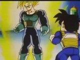 DBZ - Goku shows Gohan the Ascended Super Saiyan Levels