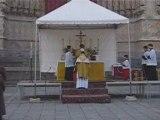 Amiens Messe parvis cathédrale 20.04.2008