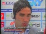 Catania-Lazio 1-0 sintesi  ed interviste di Italia 7.