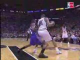 Tim Duncan Dunks on Amare Stoudemire 2007