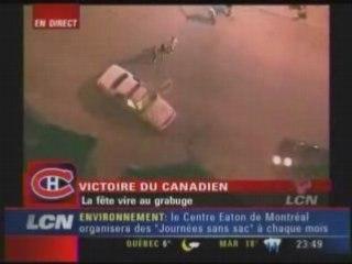 LCN Victoire Canadiens Grabuge 6 Auto Patrouille Brulent