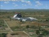 avions de chasse video de vol fsx