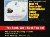 U2 Beautiful Day Guitar Backing Tracks - jam solo lesson