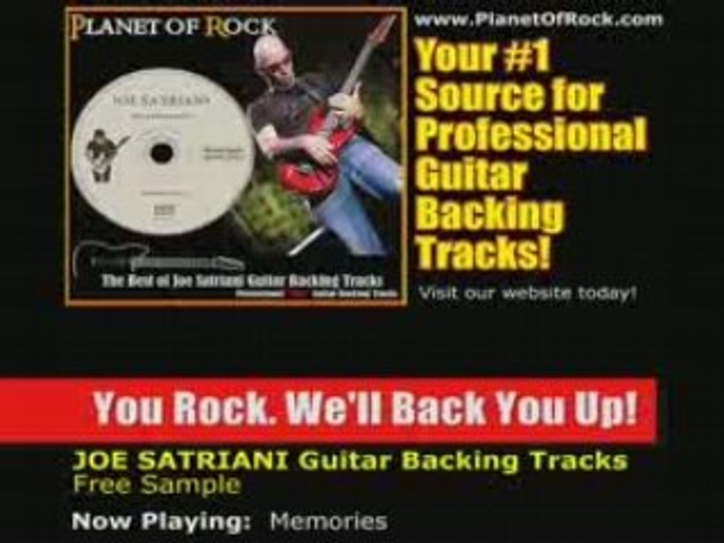 Joe Satriani Memories Guitar Backing Track - Satch Boogie