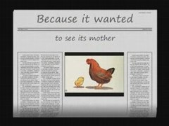 Mothers Day Why did the chicken cross the road