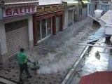 Nettoyage de Pavés à Bandol, quand tout le monde dort