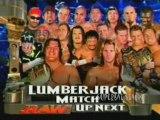 Chris Jericho vs Triple H - Lumberjack Match - Raw 10/4/2004