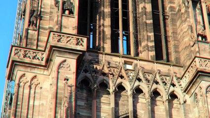 L'ascension de la cathédrale de Strasbourg en relief