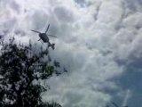 Helico du SAMU décolle de place d'italie à paris