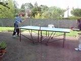 Match mon frère contre moi (1er set) (11-8 pour mon frère)