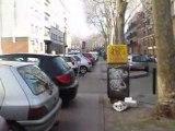 Toulouse stationnement sur piste cyclable