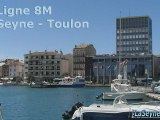 La Ligne 8M La Seyne - Toulon