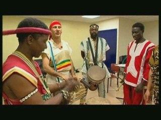 Famoudou Konate, djembe player, by Richard Bois