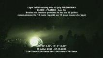 UFO - Light ORBS - OVNI - Boules lumineuse- 15 Juillet DIJON