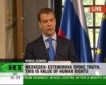 Medvedev and Merkel talk money in Munich