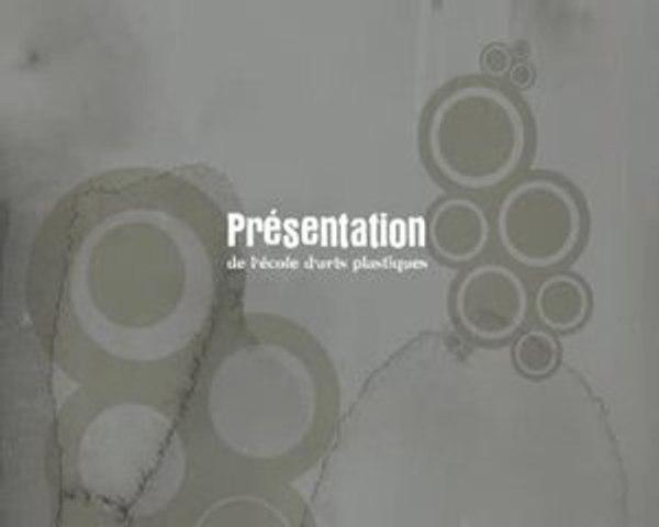 presentation de l'école d'arts plastiques du grand Angoulême